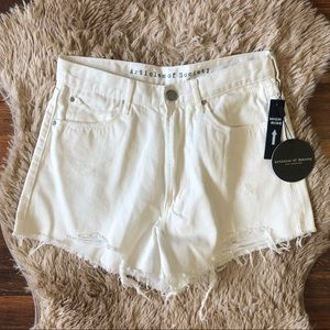 NWT Articles Of Society High Rise White Shorts